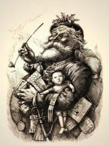 Tablou - Old Santa de la Blinkeye Srl