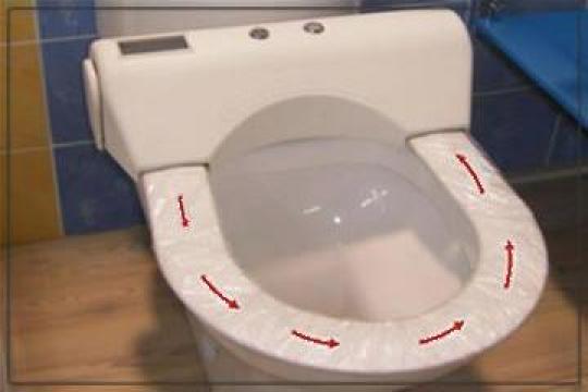 Folie igienica pentru toaleta CleanMax de la Sc Sanclean Srl
