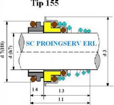 Etansare mecanica pentru pompe de apa 155 de la Sc Proingserv Srl
