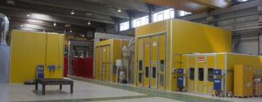 Cabine vopsire-uscare industriale de la Lackro Finishing S.r.l.