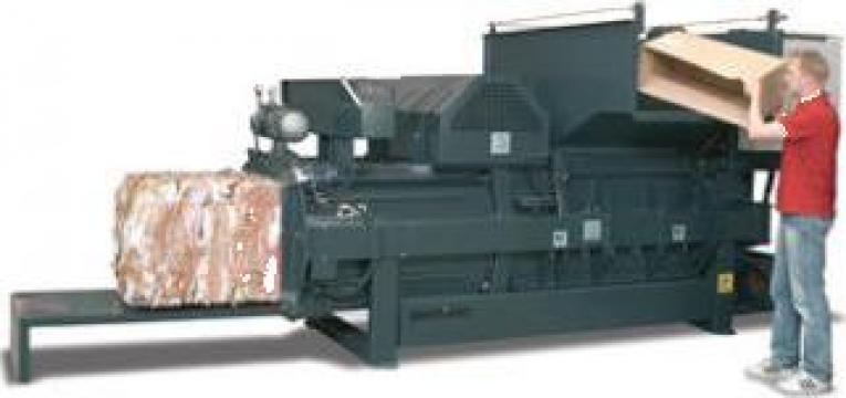 Presa balotat orizontala, carton, folie, PET HC30 de la Sc Schuster Recycling Technology Srl