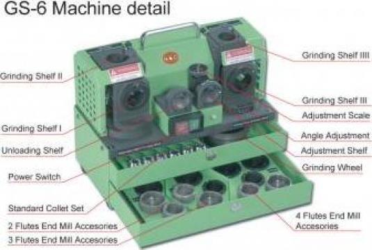 Masina de ascutit freze 3 - 12 mm de la Artem Group Trade & Consult Srl