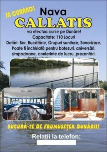 Croaziera pe Dunare, partide pescuit, catering