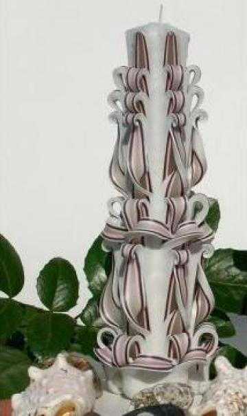 Lumanare sculptata slim de la Candle Art