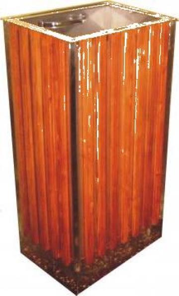 Cos din inox si lemn