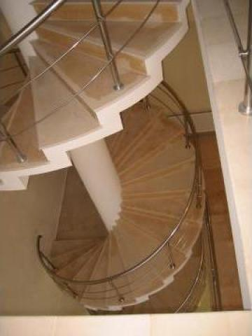 Balustrada interioara pentru scara in spirala de la Rodax Impex Srl