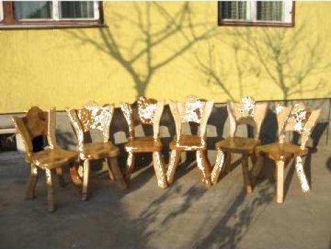 Scaun rustic pentru curte si gradina de la Rustik - Art
