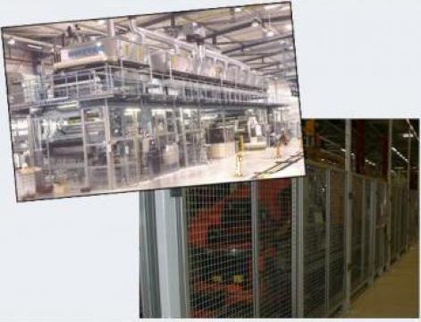 Gard de protectie cu profile de aluminiu