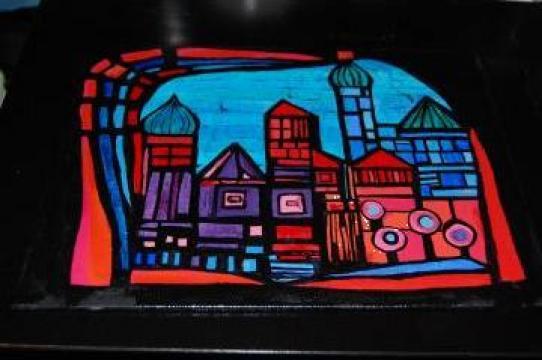 Pictura art nouveau de la Funky Bubu Handmade
