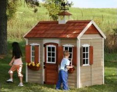 Casuta din lemn pentru copii Savannah de la Stiki Concept Srl