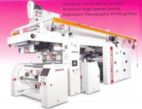 Masina de imprimat flexografica cu tambur central