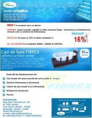 Cazi acrilice Smart Venus de la H20 Technologies - Distribuitor Autorizat Fibrex Iasi