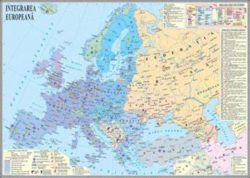 Harta Europa dupa anul 1989. Integrarea europeana de la Eurodidactica Srl