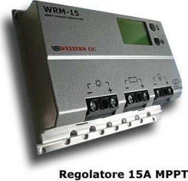 Regulator solar Western 15A MPPT 12/24V cu display digital de la Ecovolt