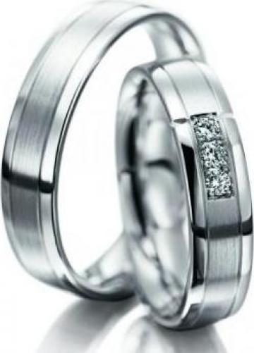 Verighete Din Aur 14k Cu Diamant Bucuresti Goldnet Distribution
