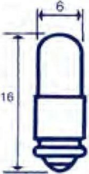 Bec indicator canelat 388, 28V, 40 mA