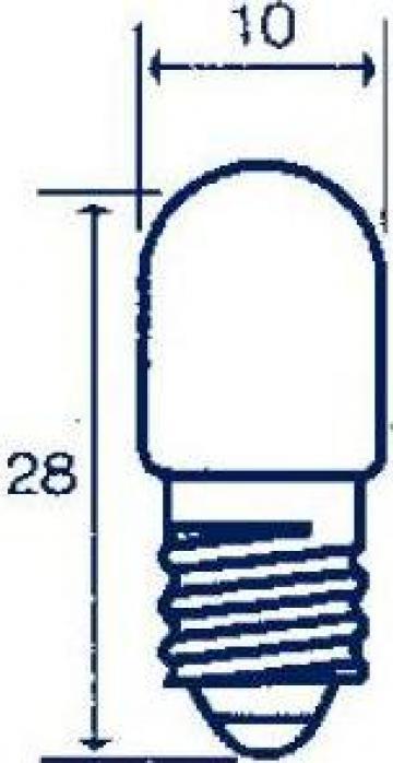 Bec indicator Edison E10, 60V, 5W