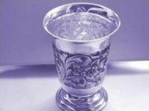 Pahar din argint lucrat manual