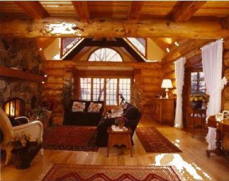 Case vile si cabane de munte din busteni valenii de for Case de lemn pret 10000 euro