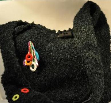 Traista tricotata din lana cu inele de la Danna Stil