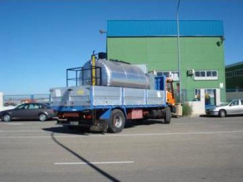 Cisterna mixta de emulsie bituminoasa (bitum,apa,motorina) de la Davmet Tech Srl