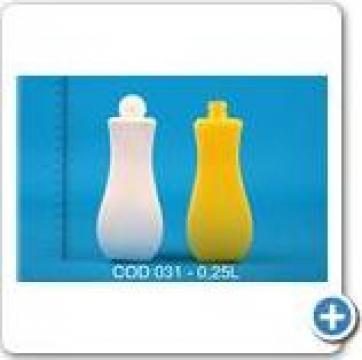 Flacon plastic la 0,25 l cu dop flip-top fi 25 de la Vanmar Impex Srl