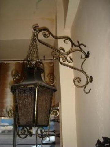 Lampadar gradina fier forjat si sticla