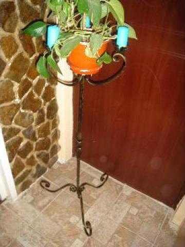 Suport din fier forjat pentru ghivece flori