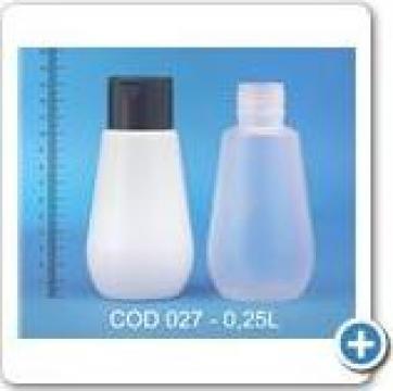 Flacon plastic la 0,25 l cu dop sita de la Vanmar Impex Srl