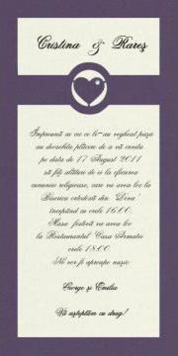 Invitatie de nunta cu Cristal Swarovski de la Xpresions Srl