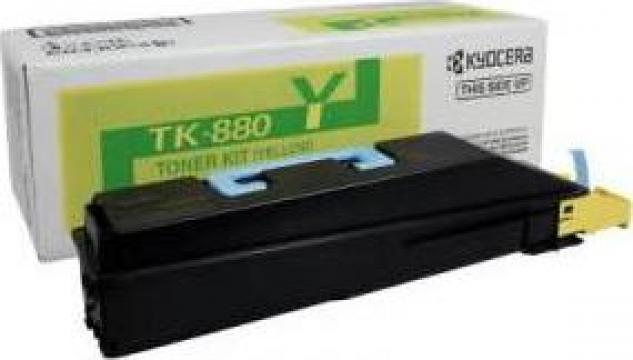 Cartus Imprimanta Laser Original KYOCERA TK-880Y de la Green Toner