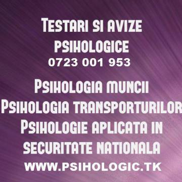 Aviz psihologic de la Cabinet Individual De Psihologie Amarie Alexandra