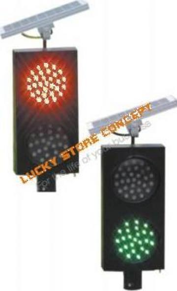 Lumini trafic rutier Solar double tubes traffic light de la Lucky Store Solution SRL