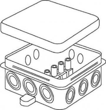 Doza aparenta din PVC 78x78x37mm de la Niedax Srl
