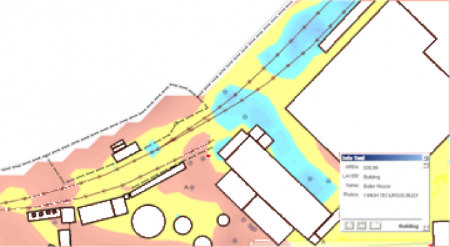 Aplicatii GIS for integration of the graphical/text info