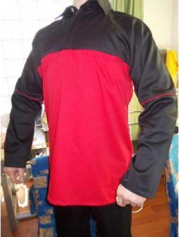 Costum brutarie pantalon si bluza negru rosu de la Johnny Srl.