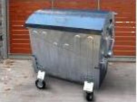 Containere gunoi 1100 l zincate la cald