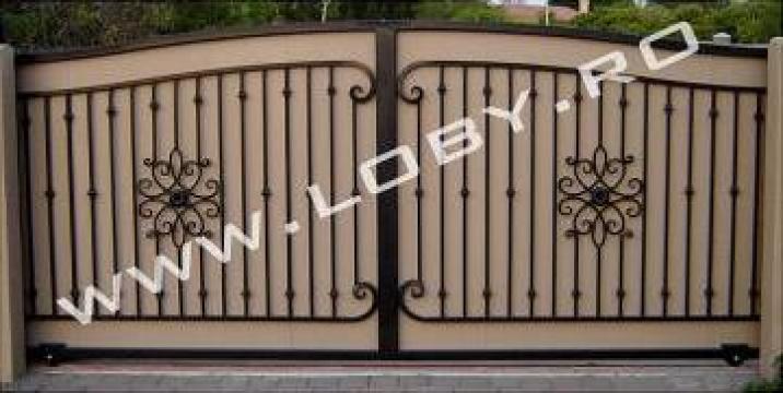 Poarta din fier si fier forjat Miraj de la Loby Design