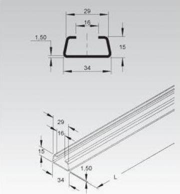 Sina C 34x15x1,5mm de la Niedax Srl