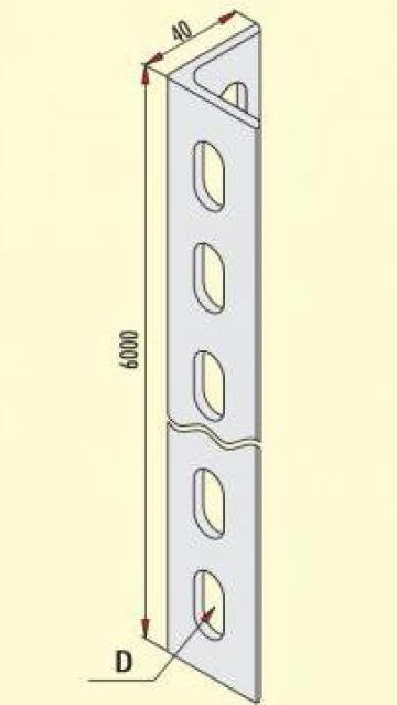 Profil Cornier 40x40mm de la Niedax Srl