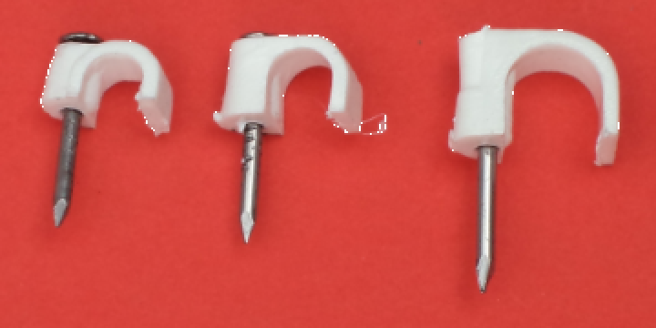 Cleme cu cui pentru cablu