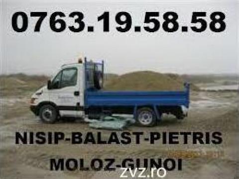Nisip, pietris, balast, pamant vegetal de la Nisip Bucuresti Srl.