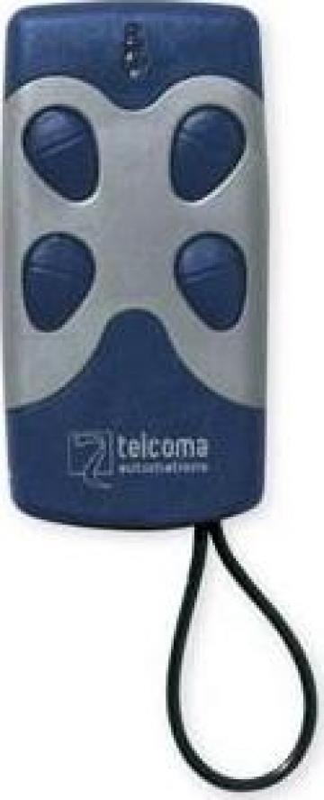 Telecomanda automatizare Telcoma 4 canale 433MHz Bleu 4