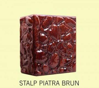 Cahle teracota Stalp + placa Piatra Brun de la Fancris Srl
