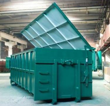 Container 25mc cu capac rabatabil de la Lucimet Prod Srl