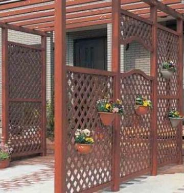 Panouri gard lemn rustic