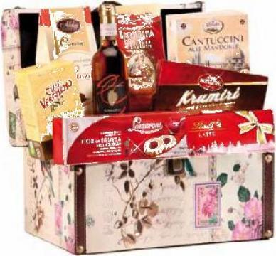 Cos cadou Cufarul Sf. Valentin pentru Ziua Indragostitilor de la Italian Market Distribution