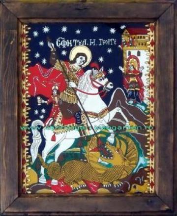 Icoana pe sticla Sf. Gheorghe de la I.i. Artizan