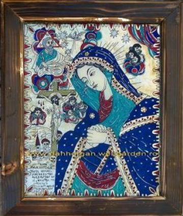 Icoana pe sticla Maica Domnului Jalnica de la I.i. Artizan