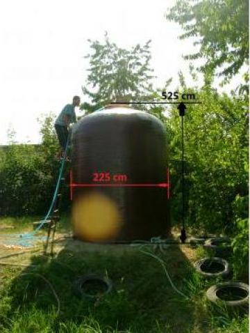 Rezervor fibra sticla 20.000 L vertical de la Custom Tanks Srl